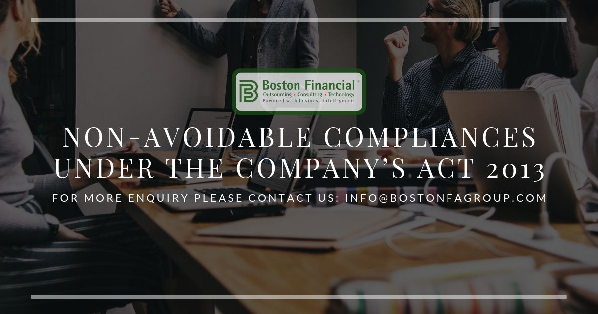 Non-Avoidable Compliances under the Company's Act 2013