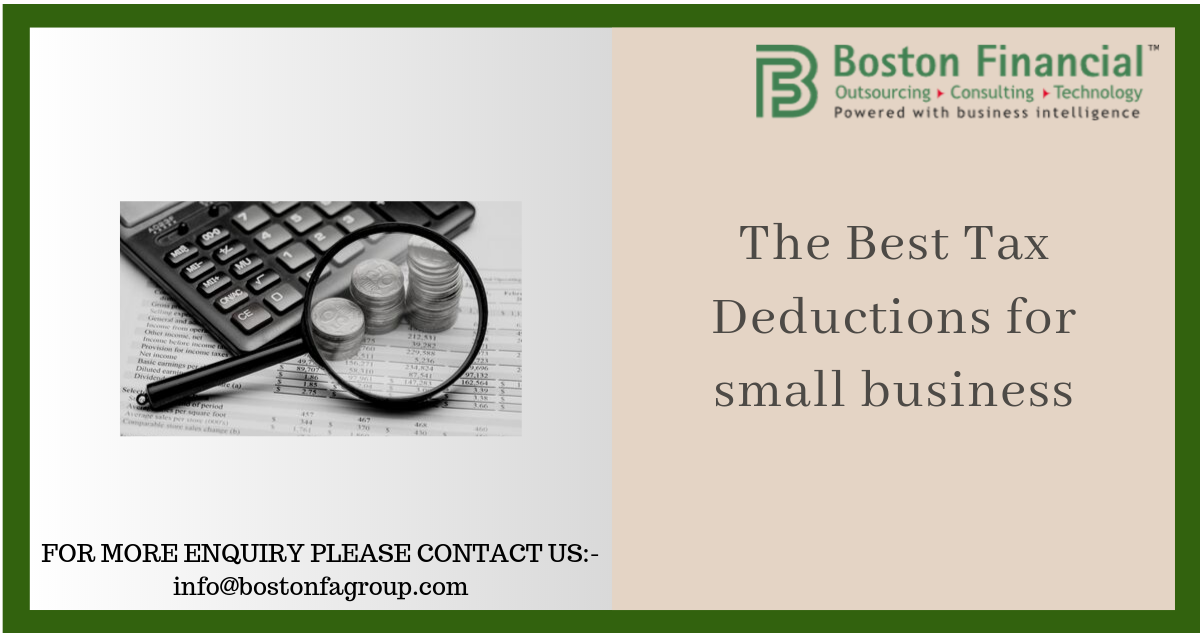 The Best Tax Deductions for small business