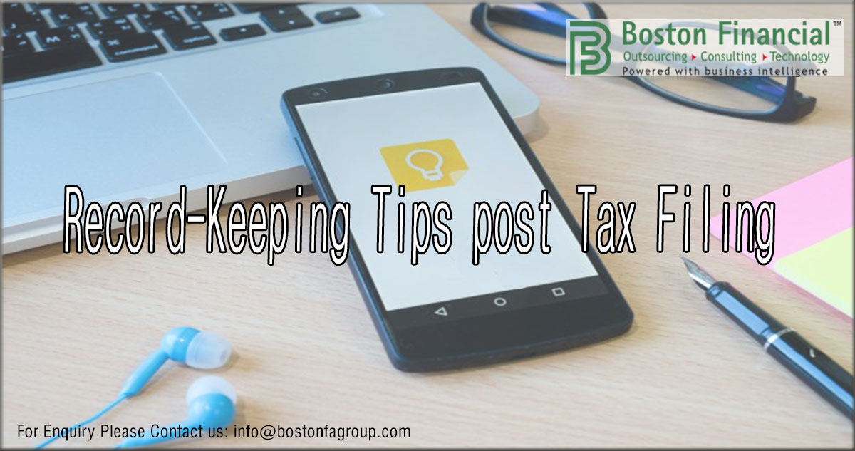 Record-Keeping Tips post Tax Filing